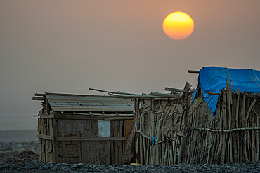 Houses of the Afar people in the Danakil Depression, Ethiopia