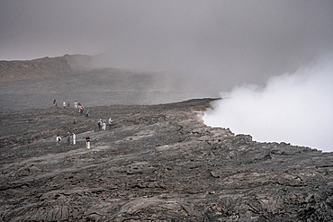 Erta Ale Volcano is a continuously active basaltic shield volcano and lava lake in the Afar Region of Ethiopia