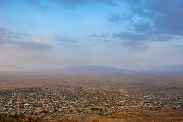 A town nestled below the mountains throughout the Danakil Depression, Ethiopia