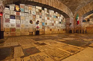 Crypt beneath the altar at La Parroquia, the famous parish church of San Miguel de Allende, Mexico.