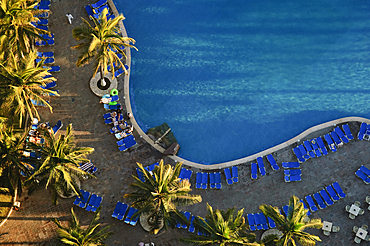 Swimming pool at El Cid Resort's El Morro Tower; Mazatlan, Sinaloa, Mexico.