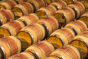 Le Petit Chai winery barrel room at Columbia Crest Vineyards, Patterson, Washington.