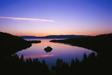 Emerald Bay at dawn; Lake Tahoe, California.