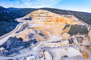 Quarry. Aerial view. Ancin area. Navarre, Spain, Europe