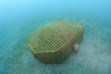Bamboo Fish Trap, Lembeh Strait, Bitung, Manado, North Sulawesi, Indonesia, Pacific Ocean