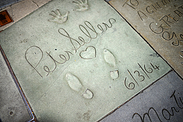 Peter Sellers¥prints at Grauman's Chinese Theatre, Hollywood Boulevard.
