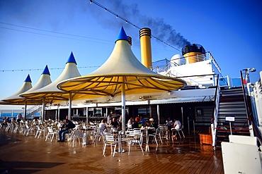 Bar terrace on cruise deck