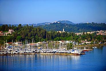 Cruise arrives at Corfu port, Greece