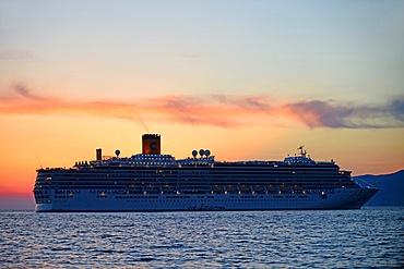 Cruise off the coast of Mykonos, Cyclades Islands, Greece