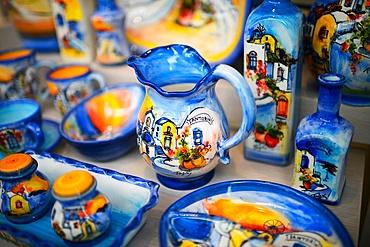 Souvenir shop in Santorini, Greek Islands