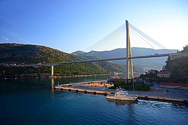 Coast of Dubrovnik from cruise ship, Croatia