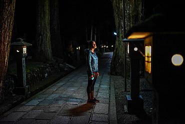 Okunoin, most popular cemetery in Japan, located in Koyasan or Mount Koya.
