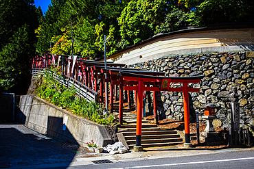 Streets of Koyasan or Mount Koya, temple settlement in Wakayama Prefecture to the south of Osaka