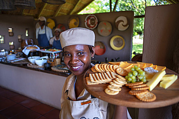 Reestaurant at Mashatu Lounge Main Camp, Mashatu Game Reserve, Tuli Block, Botswana, Africa