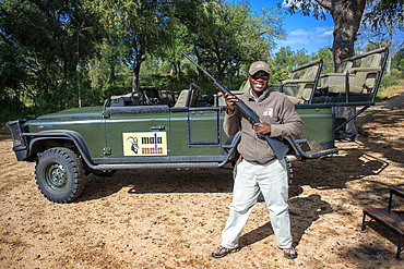 Guide at Mala Mala Game Reserve Sabi Sand Park Kruger South Africa, Africa