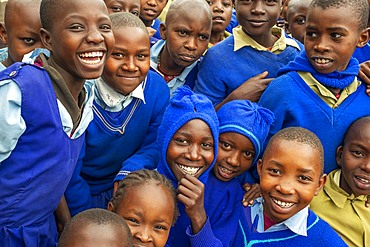 Inside primary and second school in a small village near Kitui city in the Kamba country in Kenya, Africa.