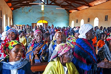 Christian sunday mass in a small village near Kitui in the Kamba country in Kenya, Africa.