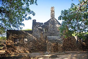 Ruins of Friday mosque at Takwa on Manda Island near Lamu Kenya