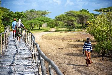 Way to the mosque at Takwa on Manda Island near Lamu Kenya