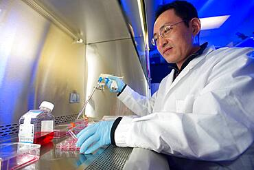 Man in a scientific lab