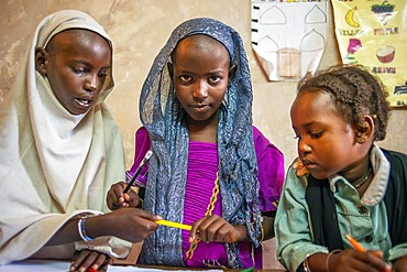 School for children to learn. Afrikable spanish NGO in Lamu island Kenya. This association tries to empower women who have been victims of abuse. By making souvenirs that are later sold in the village store and the schooling of their children.