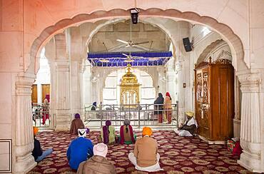 Interior of golden temple, Amritsar, Punjab, India