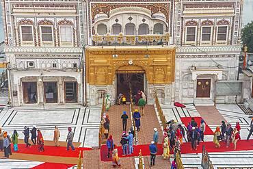 Access door to Golden temple, Amritsar, Punjab, India