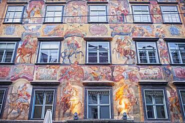 Gemalte Haus,  painted house,in Herrengasse street, Graz, Austria