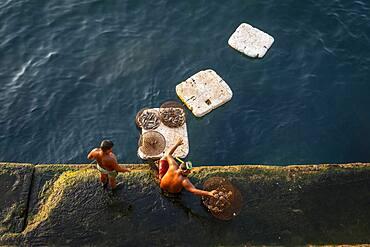 Fishermen, Corniche, Beirut, Lebanon