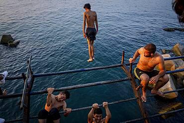 Bathers, Corniche, Beirut, Lebanon