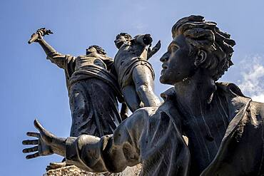 Martyrs sculpture and  Square, monument to Lebanese nationalists killed here by the Ottomans in 1915, Beirut, Lebanon