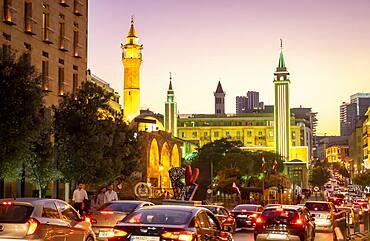 Traffic Jam, in Waygand street, Downtown, Beirut, Lebanon