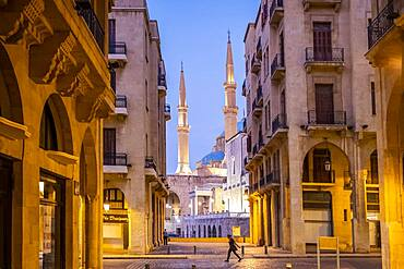 Mohammad Al-Amine Mosque from , souk Abou Nasser street, Downtown, Beirut, Lebanon