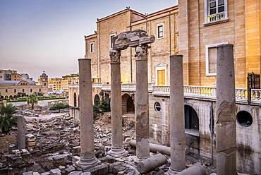 Roman Cardo Maximus, in Roman Forum, Downtown, Beirut, Lebanon