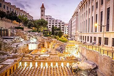 Roman baths, Downtown, Beirut, Lebanon