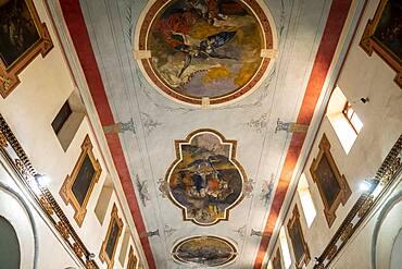 Detail, ceiling, Iglesia de Nuestra Señora de la Candelaria, church, Bogota, Colombia
