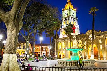 14 september square, and cathedral, Cochabamba, Bolivia