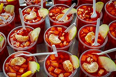 Fruit salad, typical Colombian gastronomy