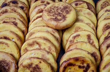 Arepa, arepas, typical Colombian gastronomy