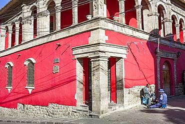 Facade of National Museum of Art, Casa de Francisco Tadeo Diez de Medina, La Paz, Bolivia