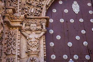 Detail, facade of San Lorenzo church, Potosi, Bolivia