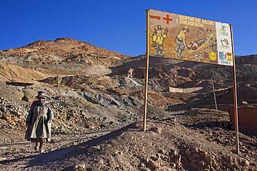 Scene in Pailaviri section, Cerro Rico, Potosi, Bolivia