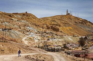 Scene in Pailaviri section, at right and down Pailaviri mine, Cerro Rico, Potosi, Bolivia