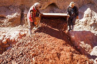 Miners at Pailaviri mine, Cerro Rico, Potosi, Bolivia