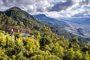 Skyline, from Montserrate hill or cerro de Montserrate, Bogota, Colombia