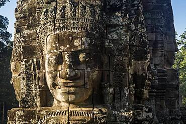 Detail, Bayon temple, Angkor Thom, Angkor, Siem Reap, Cambodia