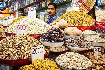 Spice market, in Khari Baoli, near Chandni Chowk, Old Delhi, India