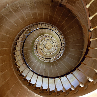 The 257 steps of the Phare des Baleines lighthouse on the Ile de Re, Charente Maritime, Poitou Charentes, France, Europe