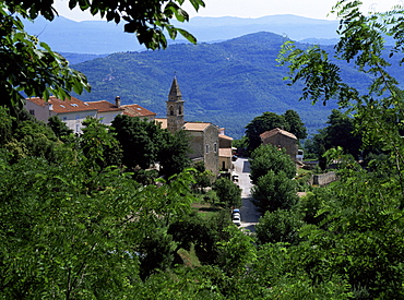 View of Motovun from castle, Istria district, Croatia, Europe