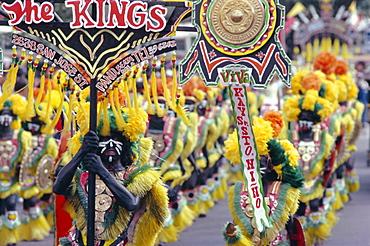 Procession, Ati Atihan carnival, Kalibo, island of Panay, Philippines, Southeast Asia, Asia